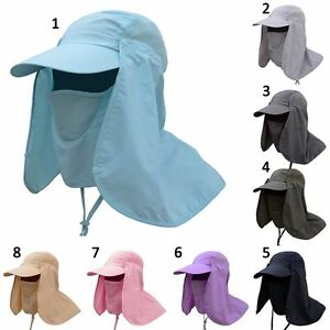 Hiking Fishing  Face Neck Cover Sunshade Hat Outdoor Sun Protection Flap Cap
