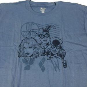 FUNKO-DC-Comics-Bad-Girls-T-Shirt-Poison-Ivy-Catwoman-Harley-Quinn-Size-XL