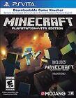 Minecraft -- PlayStation Vita Edition (Sony PlayStation Vita, 2014)