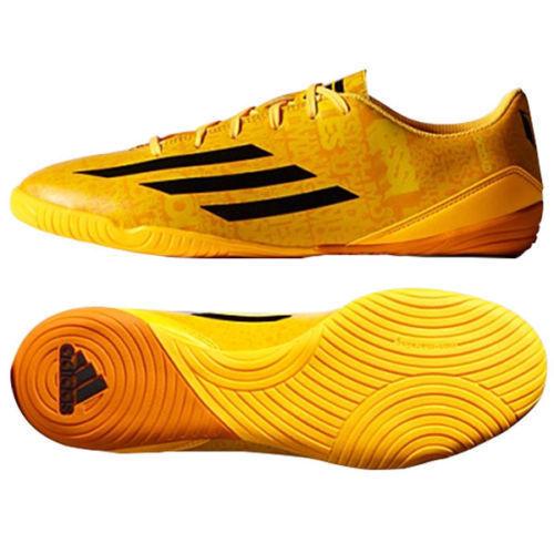 Adidas Messi F10 in Indoor Scarpe Calcio Futsal Solare oroNero  Nero