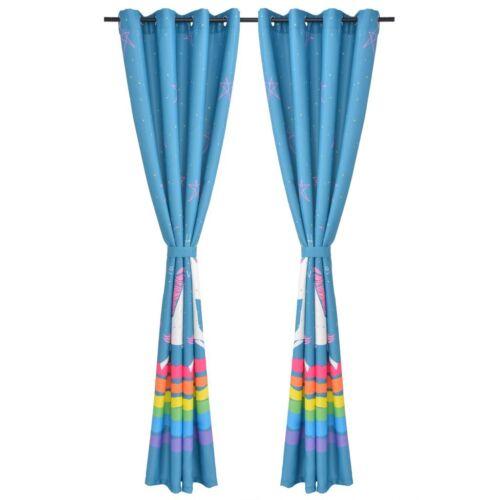 vidaXL 2x Rideaux Occultants Imprimés pour Enfants 140x240cm Multicolore Fenêtre