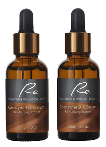 Re Coenzyme Q10 Serum Revitalizing Booster Anti-Aging Skin Resilience - 2 x 30mL