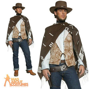 Wandering Gunman Costume Mens Cowboy Clint Eastwood Fancy ...