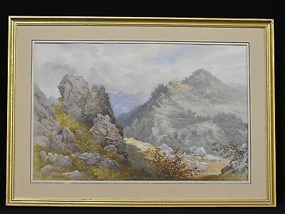 Art Gilt Framed English School Watercolor Late 19th/20h Century Of Countryside
