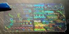 990x Large TRANSPARENT Security Hologram Stickers, 30mm x 15mm, Signature Labels