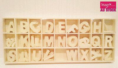 Set of Brown Wooden Craft   Scrap-booking Alphabet Letter A-Z   24x32mm   260