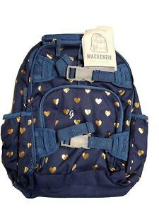Pottery Barn Kids Mackenzie Small Backpack New Blue Gold