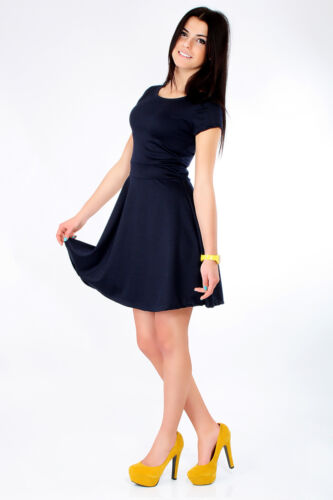 Lovely Women/'s Dress with Zipper Cocktail Jersey Party Summer Size 8-16 8902