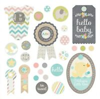 Simple Stories Hello Baby Collection Decorative Brads 3927