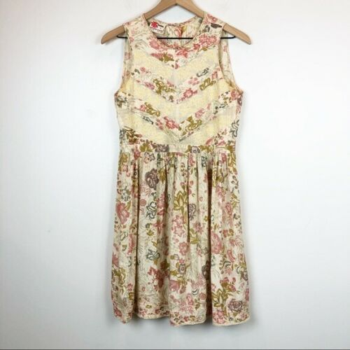 Vintage PHOOL 70s High Neck Boho Sleeveless Dress