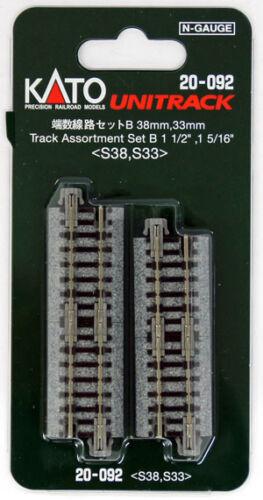 N scale Kato 20-092 Short Straight Track 38mm S38 /& 33mm S33 Assortment Set B