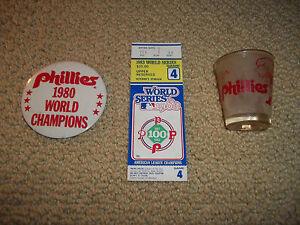 1983-WORLD-SERIES-PHILADELPHIA-vs-BALTIMORE-TICKET-STUB-1980-BUTTON-SHOT-GLASS
