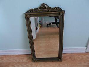 Details About Vintage Antique Carved Wood Frame Gold Gilt Fl Design Etched Gl Mirror