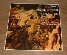 DECCA SILVER LXT 6081 RAVEL sheherazade CRESPIN*ANSERMET 1964 UK MONO LP*INSERT