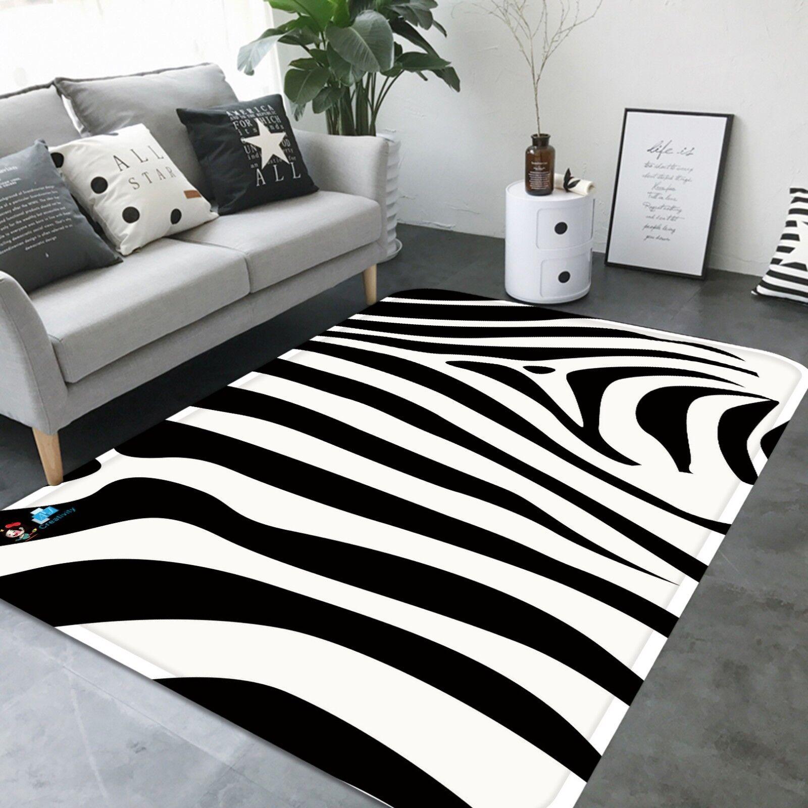 3D Zebra Texture 582 Non Non Non Slip Rug Mat Room Mat Quality Elegant Photo Carpet US 7ca954
