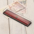 Rectangular Acrylic Transparent Plastic Pen Boxes Stationery Pencil Case Box 1pc