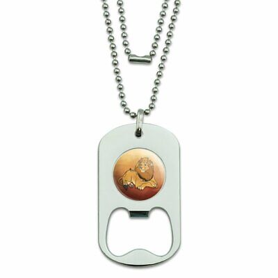 Cute Jungle Lions Jewelry Military Pendant Brand Necklace Metal Dog Tag