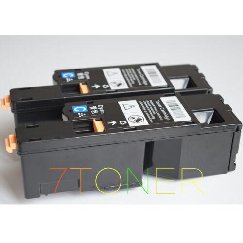 2 X TONER CIANO PER XEROX PHASER 6020 6022 WORKCENTRE 6025 6027 106 R02760
