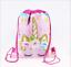 NEW RAINBOW PINK UNICORN SCHOOL DRAWSTRING BAG PE GYM SWIM KIT NURSERY GIRLS