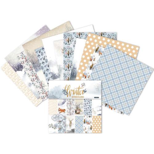 "12pcs Winter Wonderland Elk Paper Background DIY Scrapbooking album Origami 6 /"""