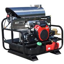 Pressure-Pro Professional 4000 PSI (Gas-Hot Water) Belt-Drive Skid Pressure W...