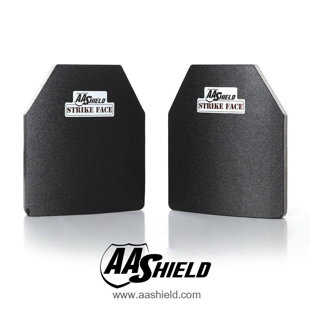 AA Shield Bulletproof Light Body Armor Insert Hard Plate Lvl III3 10x12 Cut Pair