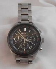 SEIKO SSB 067P1 Orologio Da Polso Cronografo 100M al quarzo bracciale in acciaio inox