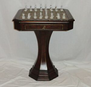 Superior Image Is Loading Hammary Furniture Pedestal Chess Game Table Wood Leather