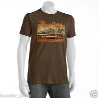 Newport Blue Mustang Sally Mens T-shirt Brown Xl Classic Muscle Car Tee