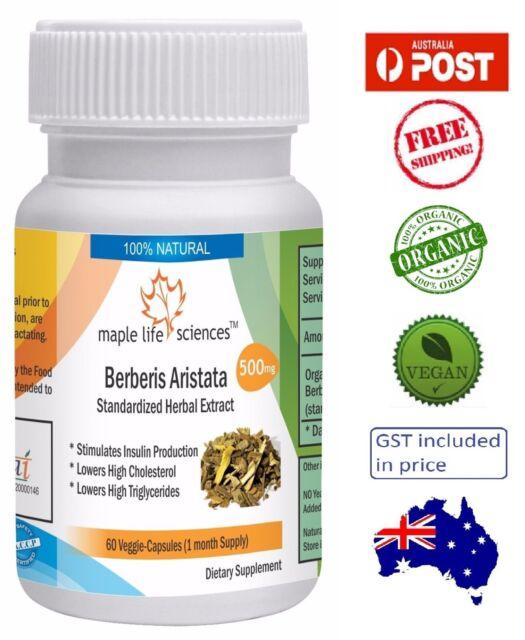ORGANIC Berberis Aristata Capsules (Berberine) -Controls Blood Sugar - AU Seller