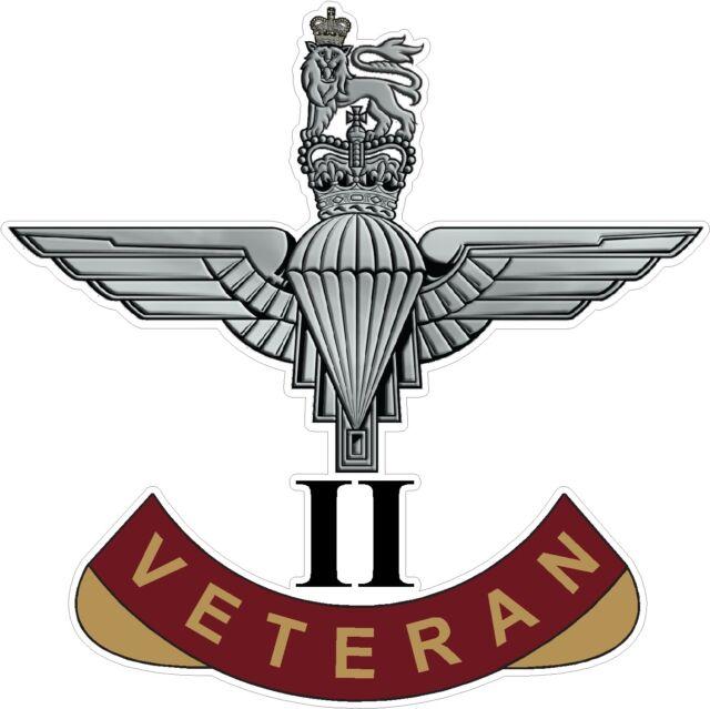 2nd BATTALION PARACHUTE REGIMENT VETERAN STICKER UK - CARS - VANS - LAPTOPS