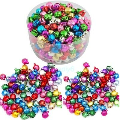 100-1000Pcs Iron Loose Beads Christmas Jingle Bells Pendants Charms 8x6 mm