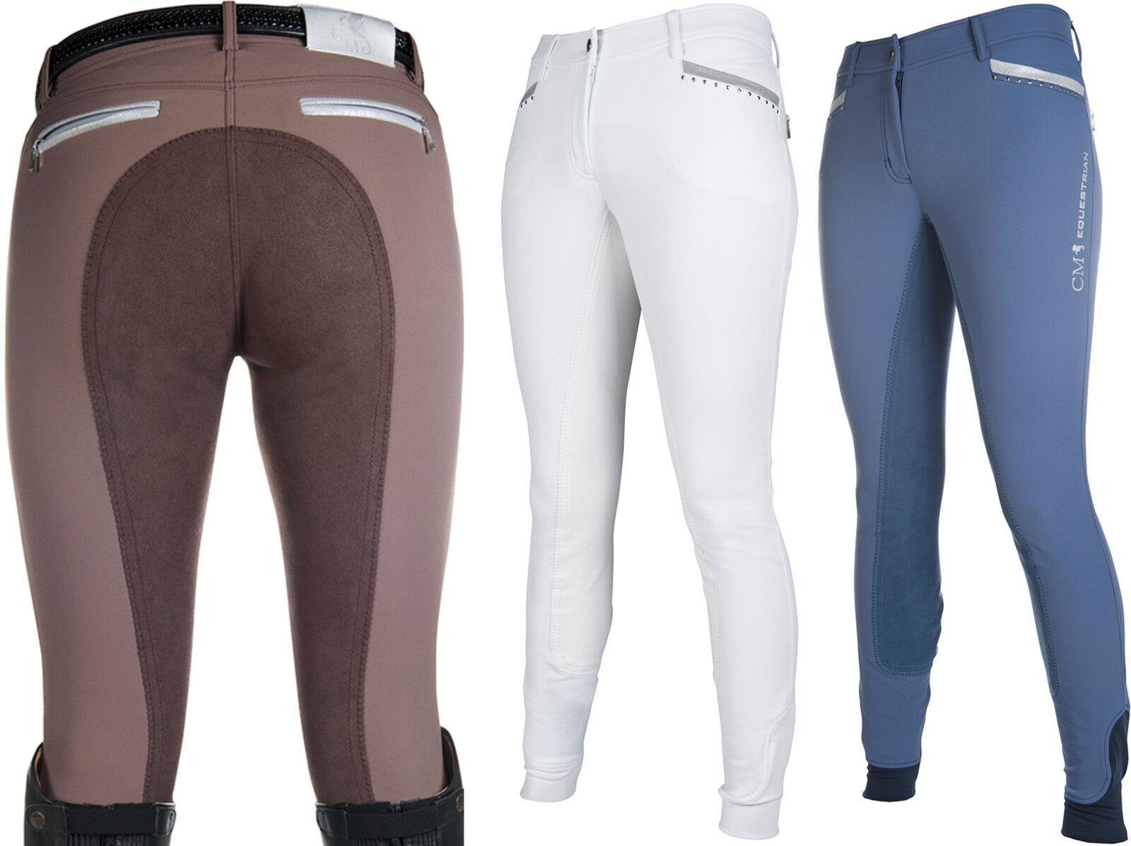 ⭐️ HKM Cavallino Marino Suave Powder Estampado Pantalones Montar 3 4 Alos