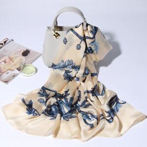 71-26-034-100-Pure-Silk-Long-Scarf-Fashion-Nature-Real-Silk-Shawl-Flower-Pattern