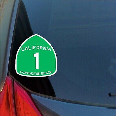 Huntington Beach California Flag Sticker Decal F694
