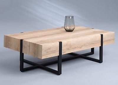 Wohnzimmertisch Beistelltisch Tisch Konsole MADISON 110x60 cm Wildeiche Metall