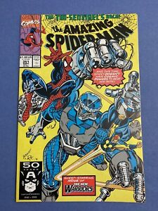Marvel-AMAZING-SPIDER-MAN-351-Comic-Book-LOT-Signed-MARK-BAGLEY-NM-New-Warriors