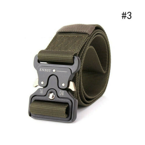 Men/'s Military Belt Tactical Army Hunting Outdoor Waistband Nylon Training Belt
