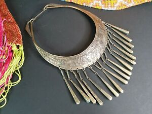 Old Tibetan Local Silver Choker Necklace …beautiful collection and accent piece
