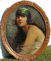 Raymond Charlot, 1920, Bénézit, Coté 1200€! Superbe Portrait Art-Déco!!
