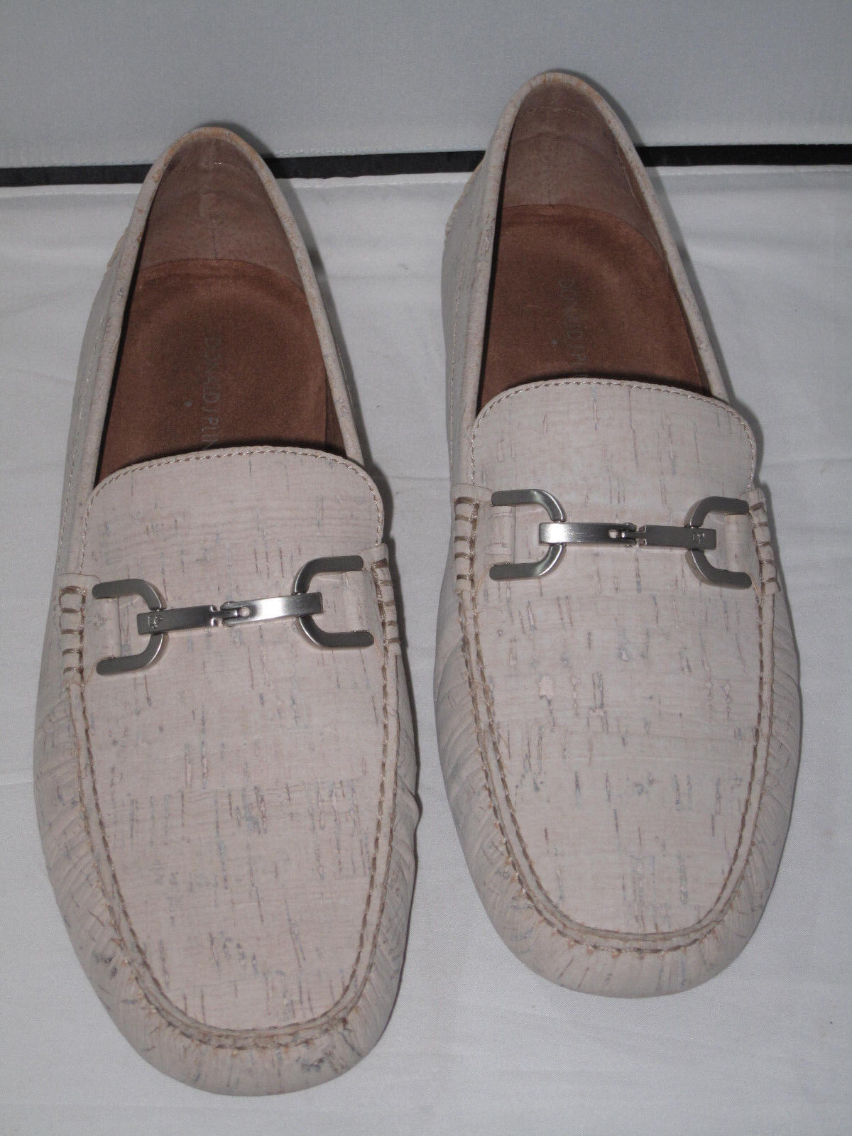 Donald Pliner VIRO2 CW White Cork Driving Mocs  11m new in box