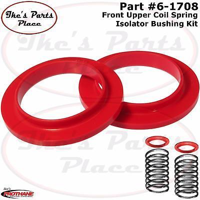Prothane 7-1706 Red Rear Upper Coil Spring Isolator Kit