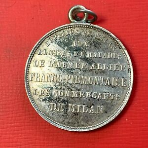 4949-MEDAILLE-1859-ARGENT-BLESSES-ARMEE-FRANCO-PIEMONTAISE-MEDECINE-HOPITAUX