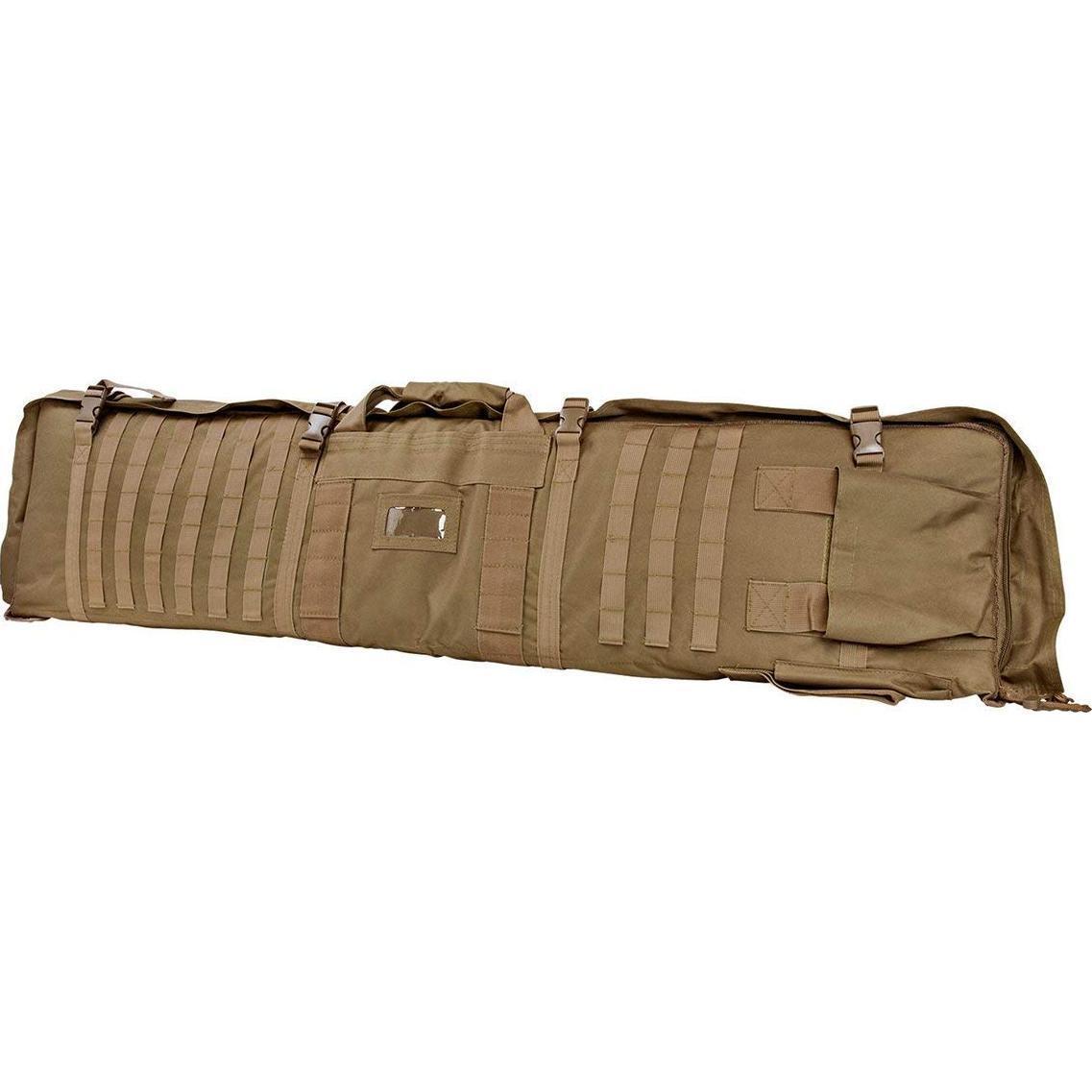 NCSTAR Tactical 48  tan maletín para rifles que se despliega a una estera de disparo de 66