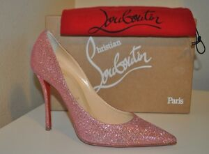 timeless design aa620 59464 Details about NEW Christian Louboutin DECOLTISH 100mm Pointy Pump Shoe PINK  Glitter 39.5 - 9.5