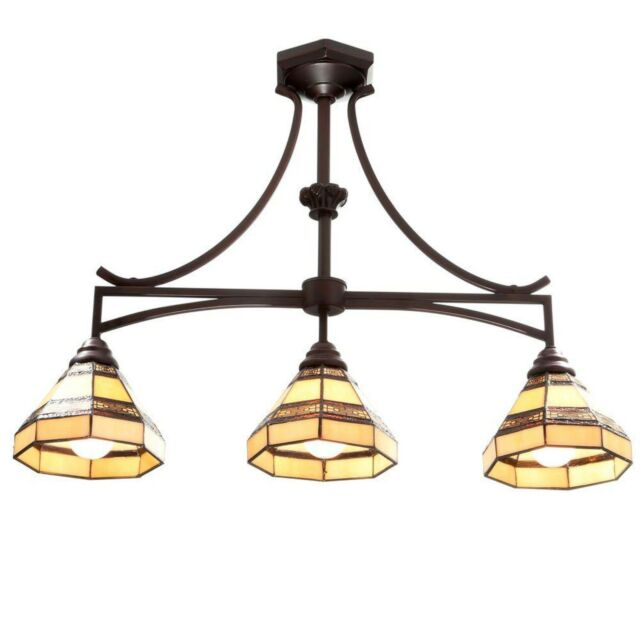 Mattock 4 Light Oil Rubbed Bronze Chandelier with Glass Shades