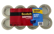 Scotch Shipping Packaging Tape 188 Inch X 546 Yard Heavy Duty Tape 8 Pack