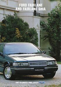 Ford-Fairlane-Ghia-Prospekt-AU-1992-2-92-GB-brochure-Autoprospekt-Broschuere-Auto