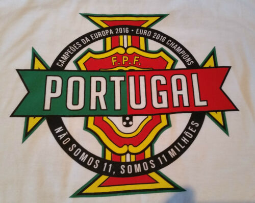 PORTUGAL 2016 EURO CHAMPIONS T-SHIRTS UNISEX MEN/'S SIZE LARGE