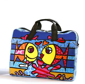 Image Is Loading Romero Britto Micro Fiber Laptop Bag Deeply In